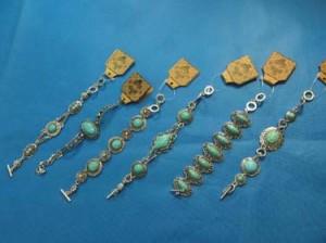 turquoise bracelet in vintage retro style