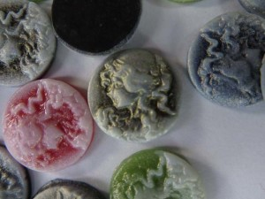 Cameo women round flatback resin applique embellishment for scrapbooking