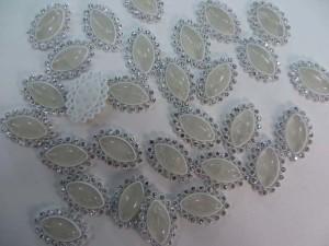 olive flatback white acrylic rhinestone applique embellishment for scrapbooking