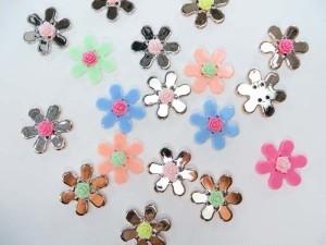 resin flower mix colors flatback applique embellishment for scrapbooking