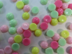resin mini round mix colors flatback cabochon applique embellishment for scrapbooking