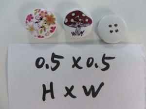 flower wooden button flatback applique embellishment for scrapbooking