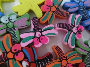 dragonfly wooden button flatback applique embellishment for scrapbooking