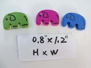 elephant wooden button flatback applique embellishment for scrapbooking
