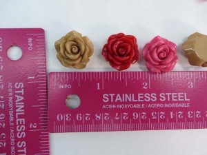 resin three colors rose flower flatback applique embellishment for scrapbooking