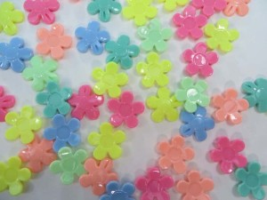 resin flower mixed colors flatback applique embellishment for scrapbooking