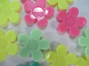 resin flower mixed colors flatback applique embellishment for scrapbooking