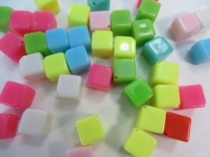 resin mini cube colors flatback applique embellishment for scrapbooking