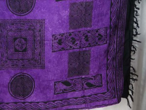 interlaced knotwork purple celtic sarong