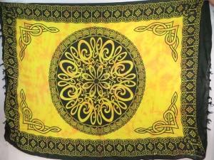 interlaced knotwork yellow mandala celtic sarong