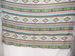 geomatric desing sarong blue green white