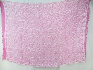 boho vintage design sarong light pink on white