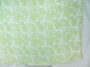 light green leaf flower on white sarong