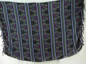 black butterfly stripes sarong