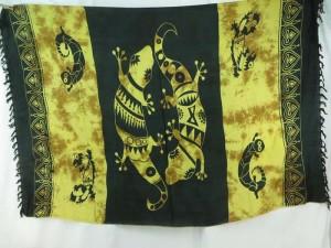black earth tone gecko primitive sarong