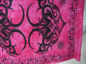 hippie fashion pink large tattoo tribe kanga pareo