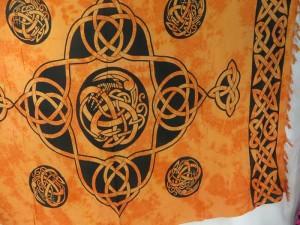 orange yellow sarong celtic intricate knotwork
