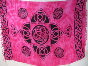 pink sarong celtic intricate knotwork Altar Cloths Tarot Divination Goth