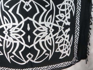 black sarong white spider web celtic interlaced knotwork