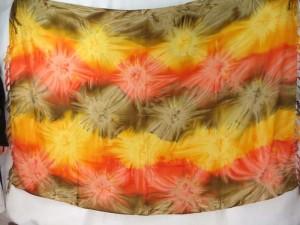 yellow orange star burst tie dye sarong boho hippie punk rock fashion clothing