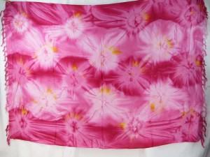 pink star burst tie dye sarong