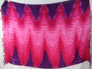 purple fuchsia long zig zag tie dye sarong