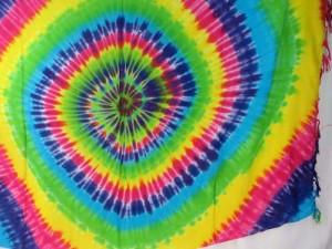rainbow swirl tie dye sarong pareo beach beachwear heppy punk clothing