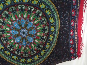 lucky elephant mandala sarong red edge mundu pareau hippie clothes