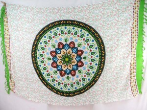 Indian star mandala circle sarong green edge hippie boho gypsy retro urban