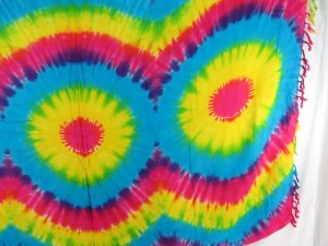 3-eyes rainbow tie dye sarong
