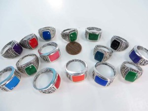 turquoise fashion rings, mixed sizes between 6 to 10
