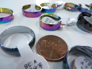 AB color fashion ring bands mixed sizes between 6 to 10