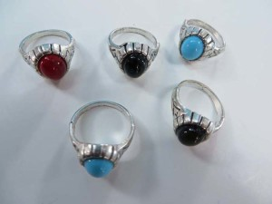 imiattion gemstone fashion rings, mixed sizes between 6 to 10
