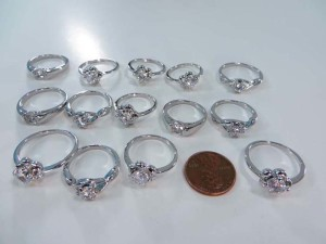 clear cz crystal fashion rings, mixed sizes between 6 to 10