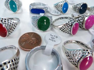 vintage style enamel fashion rings, mixed sizes between 6 to 10