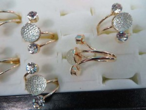 clear acrylic candy balls fashion rings