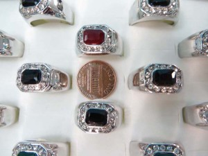 vintage style cz rhinestone fashion rings, mixed sizes between 6 to 10