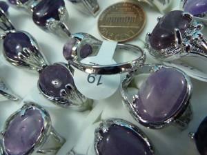 amethyst genuine gemstone fashion ring mixed sizes between 6 to 10