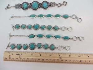 antique vintage style turquoise gemstone toggle bracelet bracelet length 7 inches to 8 inches long