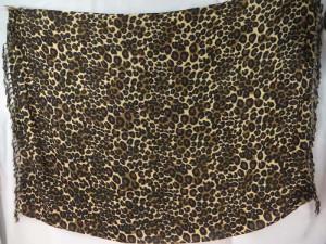animal print sarong wrap beach cover up