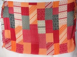 red orange grey patch bloack sarong Bohemian Gypsy Hippie Urban wear
