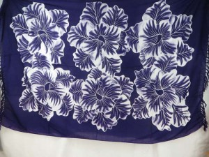large flower purple sarong womens resort wear cruise wear clothing