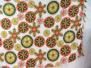 mandala circle sarongs pink yellow teal green on white
