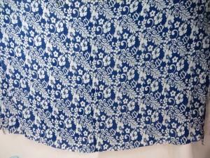 boho flower blue sarong