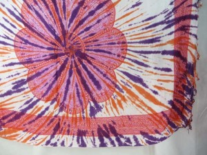 giant daisy mandala on centre tie dye sarong assorted designs randomly picked by our warehouse staffs