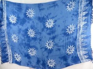 monocolor blue sun face sarong