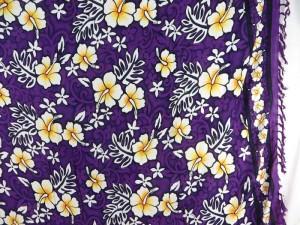 purple hibiscus sarong