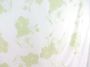 light green hibiscus flower sarong white background