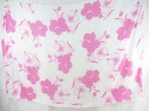 pink hibiscus flower sarong white background
