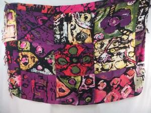 abstract art print sarong purple pink red tone